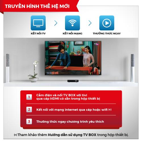 TV box K+  Truyền hình hiện đại