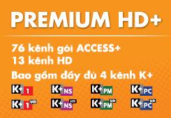Danh sách gói kênh Premium HD+