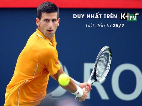 K+ công bố bản quyền giải ATP mùa giải 2016 - 2018