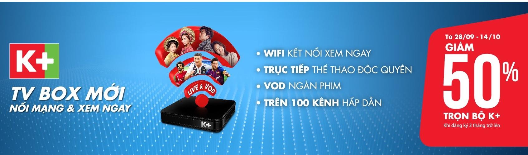 K+ Khuyến mãi K+ TV box