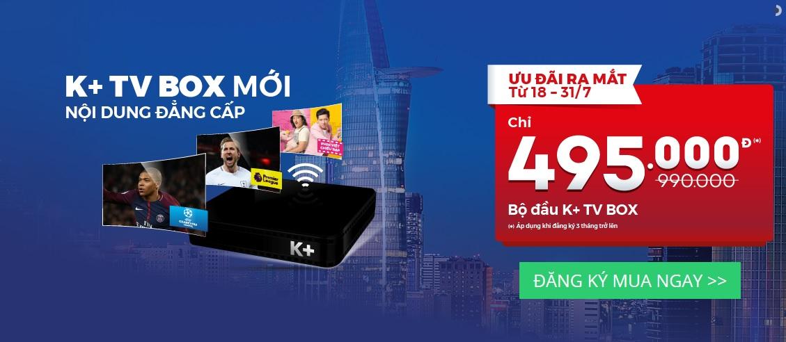 K+ TV Box HD mới, xem truyền hình mọi lúc mọi nơi