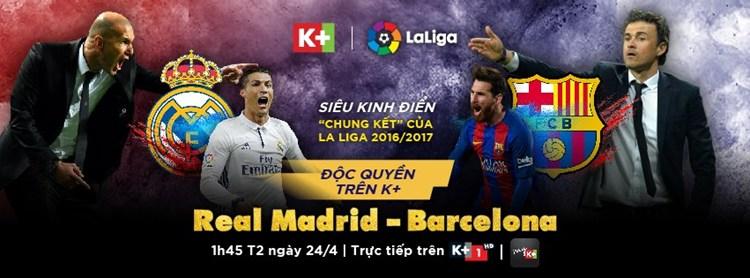 Lịch phát sóng các sự kiện thể thao tuần 17/2017 (22/4/2017 - 28/4/2017) trên các kênh K+