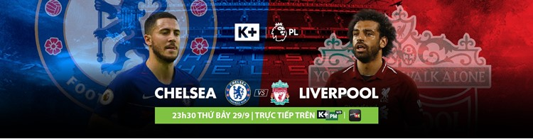 Lịch phát sóng các sự kiện thể thao tuần 40/2018 (29/9/2018 - 5/10/2018) trên các kênh K+